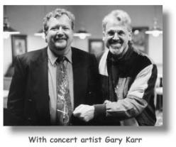 With Gary Karr